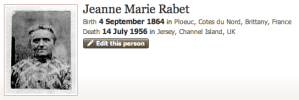 On this day - Jeanne Marie Rabet was born in 1864