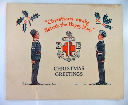 A Christmas card given to my great grandfather.
