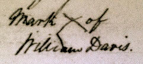 mark X of William Davis